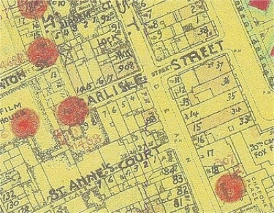 Carlisle Street - bomb map.jpg. Click on the picture to enlarge