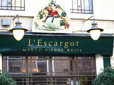 48 Greek Street 2010 6 October  - Restaurant l'Escargot.jpg